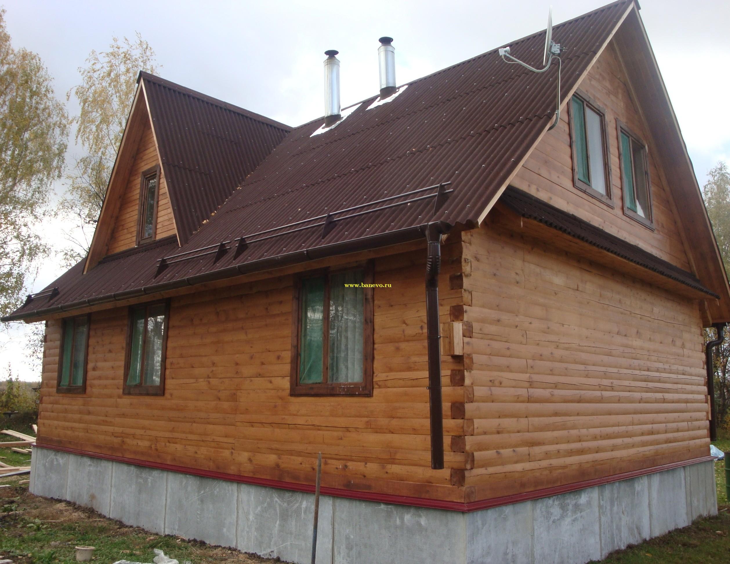 Дом из бруса 7х9 с кукушкой д 52