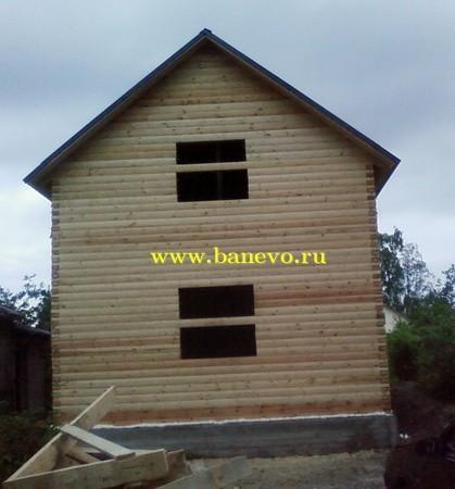 Сруб дома из бруса 6х9м высотой 4 2м